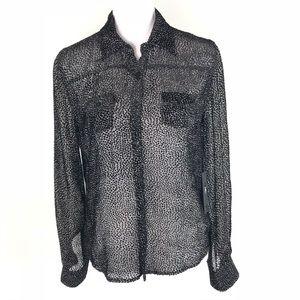 Joe's 100% Silk Sheer The Mini Shirt
